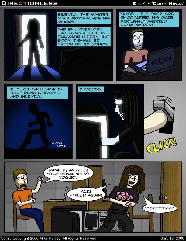 [Comic: Classic #4: Dorm Ninja]